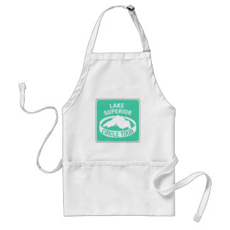 Lake Superior Circle Tour, Traffic Sign, USA Adult Apron