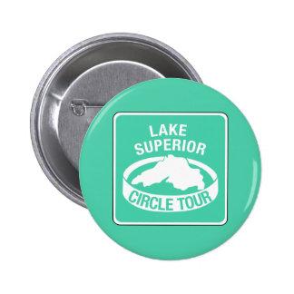 Lake Superior Circle Tour, Traffic Sign, USA 2 Inch Round Button