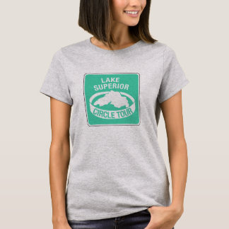 Lake Superior Circle Tour, Traffic Sign, USA T-Shirt