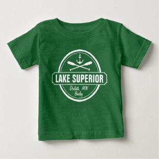 Lake Superior, custom town, name, anchor, paddles Baby T-Shirt