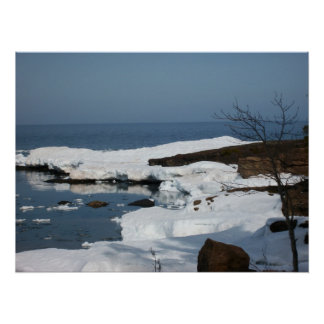 Lake Superior in Spring Poster
