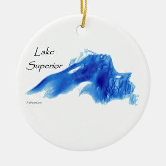 Lake Superior InDepth Ceramic Ornament