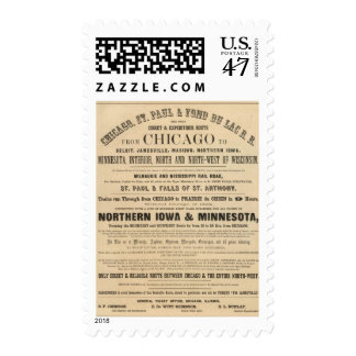 Lake Superior Iowa and Minnesota Advertisement Postage