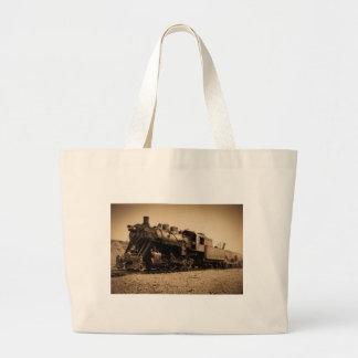 Lake Superior & Ishpeming Railroad #20 Sepia Large Tote Bag