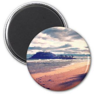 Lake Superior Island 2 Inch Round Magnet