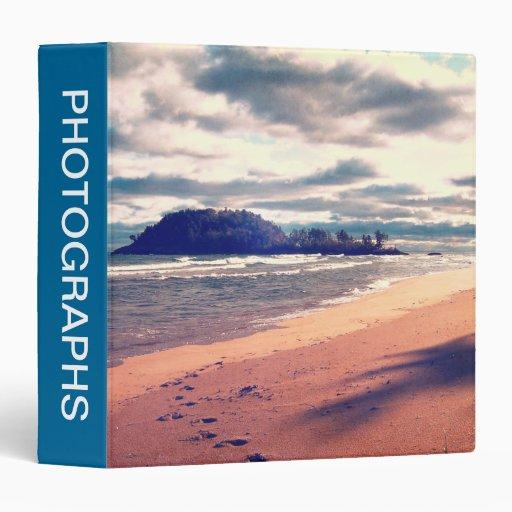 Lake Superior Island Vinyl Binder