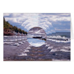 Lake Superior Island Waves Greeting Cards