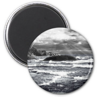 Lake Superior Lightrays 2 Inch Round Magnet