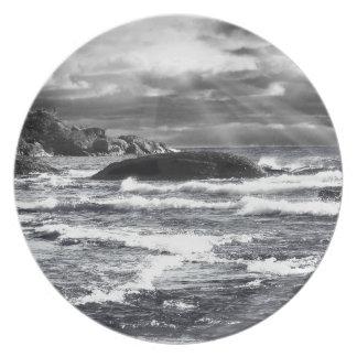 Lake Superior Lightrays Dinner Plate