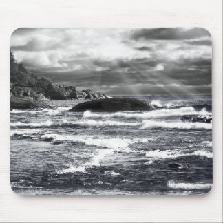 Lake Superior Lightrays Mouse Pad