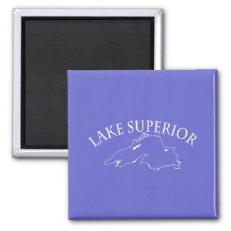 Lake Superior Map Magnet