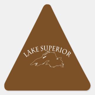 Lake Superior Map Triangle Stickers