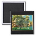 Lake Superior Pictured Rocks 2 Inch Square Magnet