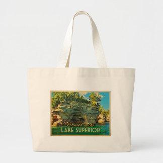 Lake Superior Pictured Rocks Large Tote Bag