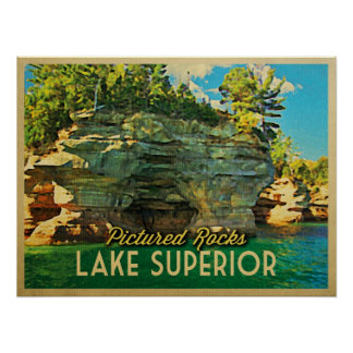 Lake Superior Pictured Rocks Posters
