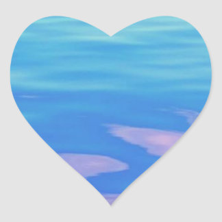 Lake Superior Reflection Heart Sticker