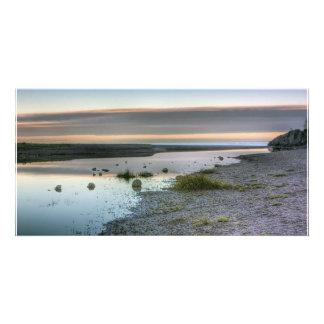 Lake Superior Shore Customized Photo Card