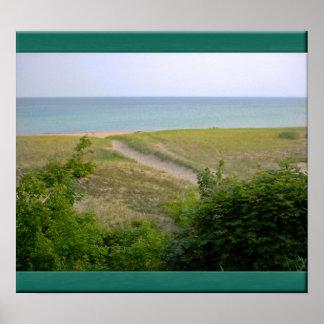 Lake Superior shore. Poster