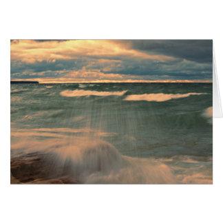 Lake Superior - Stormy Sunset Card
