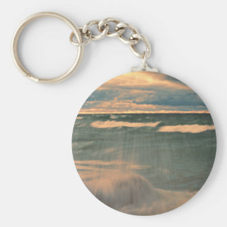 Lake Superior - Stormy Sunset Keychain