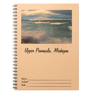 Lake Superior - Stormy Sunset Notebook