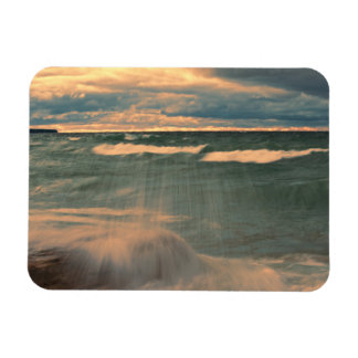 Lake Superior - Stormy Sunset Rectangle Magnets