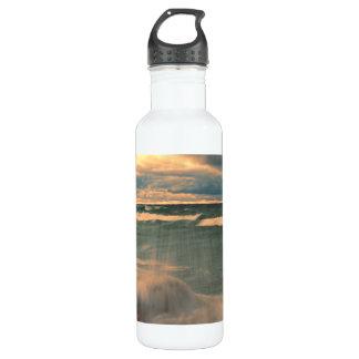 Lake Superior - Stormy Sunset Water Bottle
