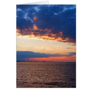 Lake Superior Sunset Card
