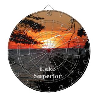 Lake Superior Sunset Dartboard With Darts
