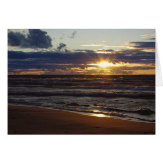 Lake Superior Sunset Greeting Card - Blank Inside