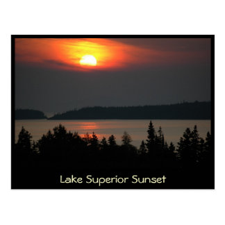 Lake Superior Sunset Post Card