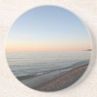 Lake Superior Sunset Sandstone Keepsake Ornament Drink Coaster