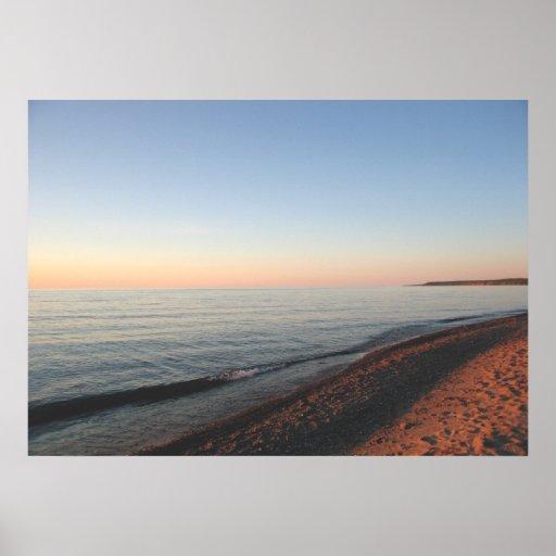 Lake Superior Sunset Upper Peninsula Poster