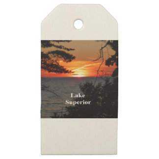Lake Superior Sunset Wooden Gift Tags