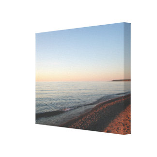 Lake Superior Sunset Wrapped Canvas Print