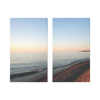 Lake Superior Sunset Wrapped Canvas Prints
