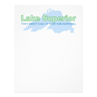 Lake Superior; They don't call it that for nothing Personalized Letterhead