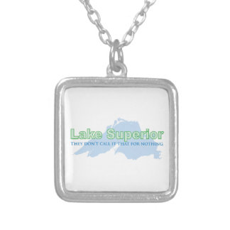 Lake Superior; They don't call it that for nothing Personalized Necklace