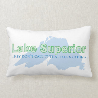 Lake Superior; They don't call it that for nothing Throw Pillows