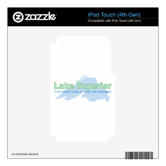 Lake Superior; They don't call it that for nothing Decals For iPod Touch 4G
