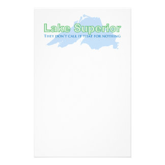 Lake Superior; They don't call it that for nothing Customized Stationery