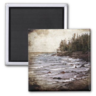 Lake Superior Waves 2 Inch Square Magnet
