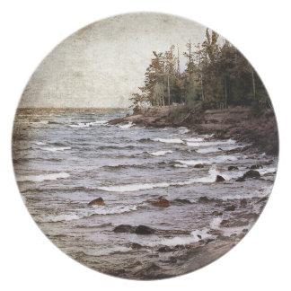 Lake Superior Waves Melamine Plate