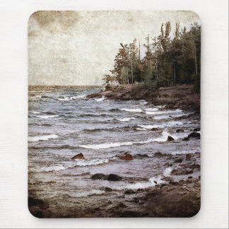 Lake Superior Waves Mouse Pad