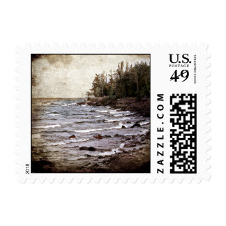Lake Superior Waves Postage