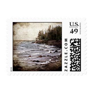 Lake Superior Waves Postage Stamp