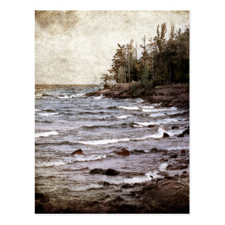 Lake Superior Waves Postcard
