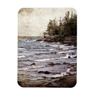 Lake Superior Waves Rectangular Photo Magnet
