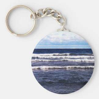 Lake Superior White Caps Basic Round Button Keychain