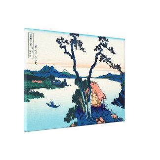 Lake Suwa in Shinano Province Canvas Prints